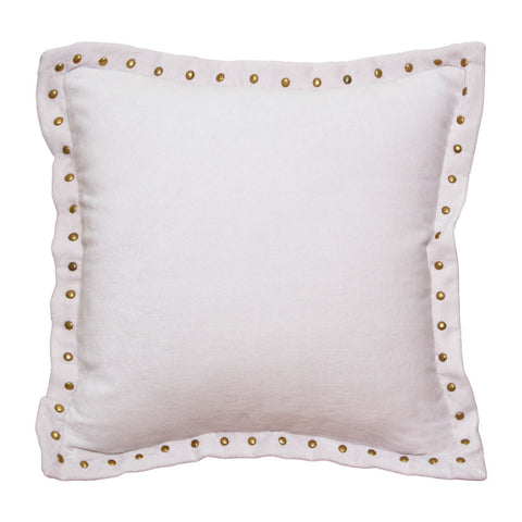 The Pale Pink Studded Velvet Throw Pillow Crane & Canopy