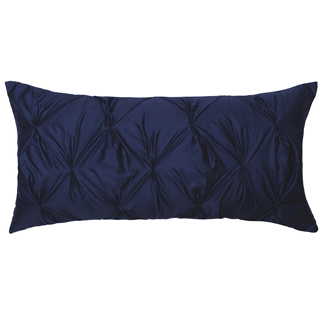Navy Blue Pintuck Throw Pillow | Crane & Canopy