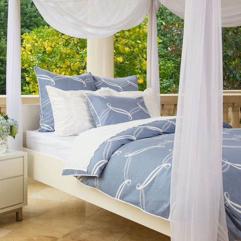 Bedroom inspiration and bedding decor | The Piper Blue Duvet Cover | Crane and Canopy