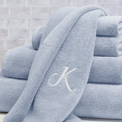 Bedroom inspiration and bedding decor | The Plush Ice Blue Towels Duvet Cover | Crane and Canopy