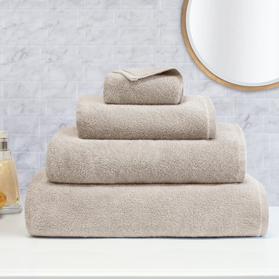 Plush Light Beige Bath Towel