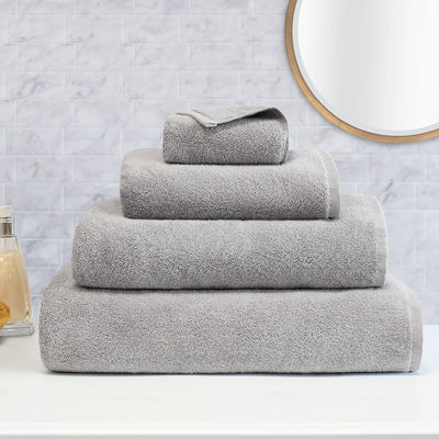 Bedroom inspiration and bedding decor | Plush Mist Grey Towel Resort Bundle (4 Wash + 4 Hand + 4 Bath Towels + 2 Bath Sheets)s | Crane and Canopy