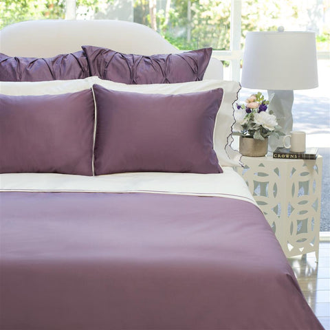 Bedroom inspiration and bedding decor | The Hayes Nova Purple Duvet Cover | Crane and Canopy