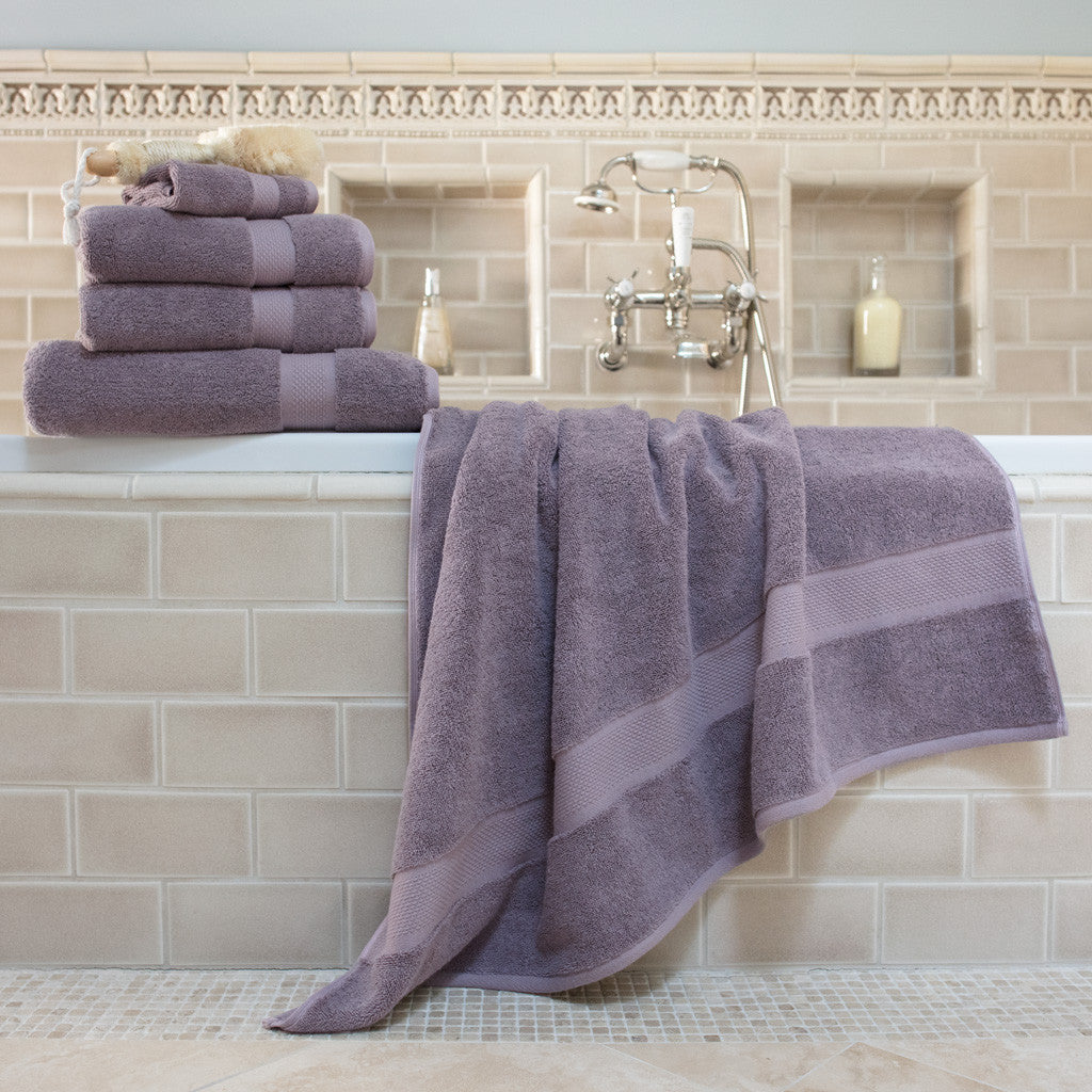 Bedroom inspiration and bedding decor | The Classic Lilac Purple Towels Duvet Cover | Crane and & Classic Towels | Crane u0026 Canopy