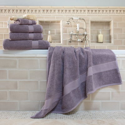Bedroom inspiration and bedding decor | Classic Lilac Towel Essentials Bundle (2 Wash + 2 Hand + 2 Bath Towels) Duvet Cover | Crane and Canopy