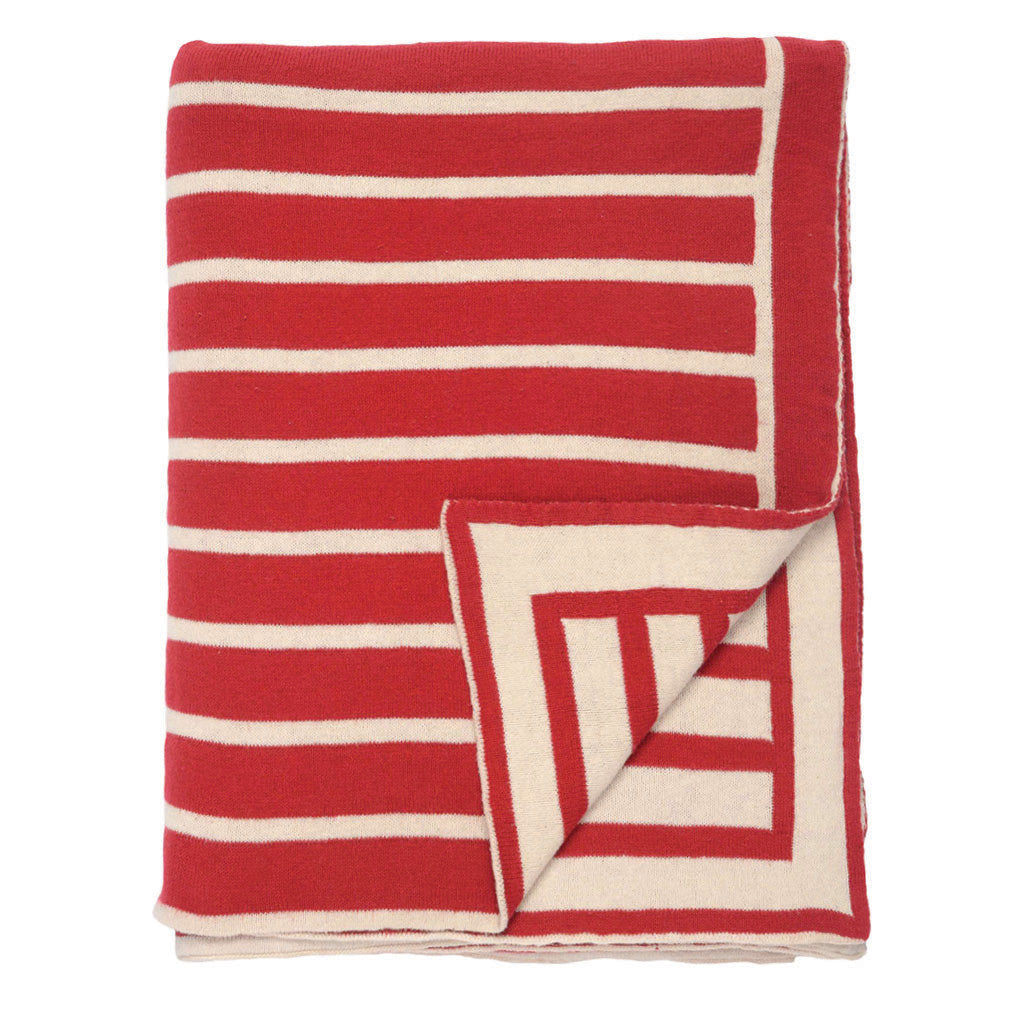 Bedroom inspiration and bedding decor | The Red Beach Stripes Throw | Crane and Canopy