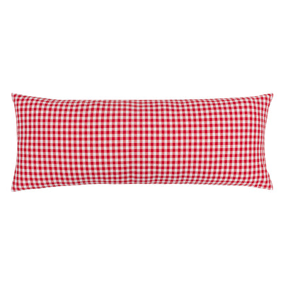 The Red Gingham Extra Long Lumbar Throw Pillow