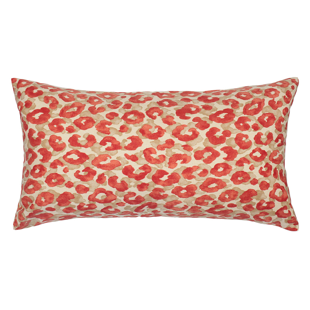 Bedroom inspiration and bedding decor | The Ruby Red Leopard Throw Pillows | Crane and Canopy