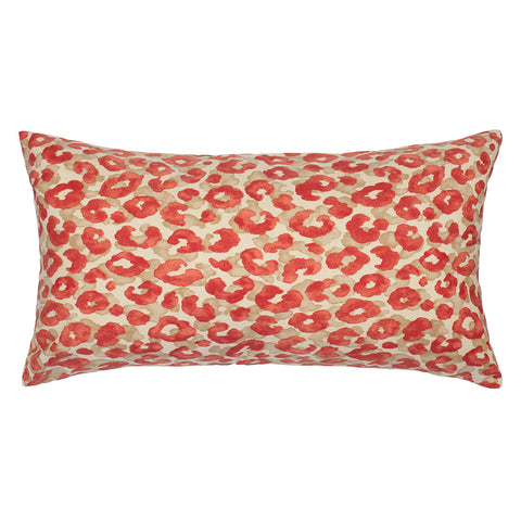 The Ruby Red Leopard Throw Pillow