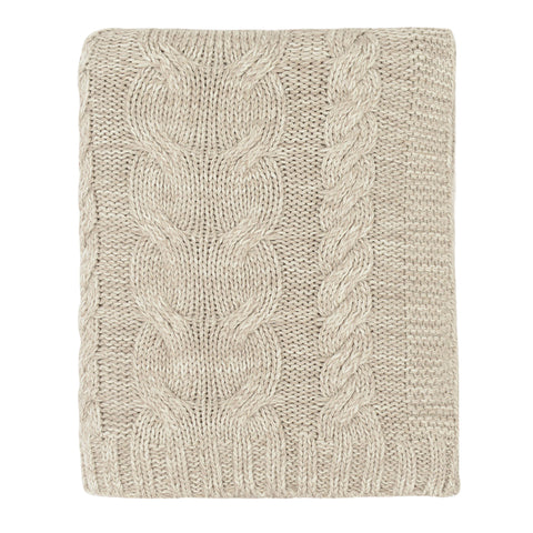 The Stone Chunky Braid Cotton Throw
