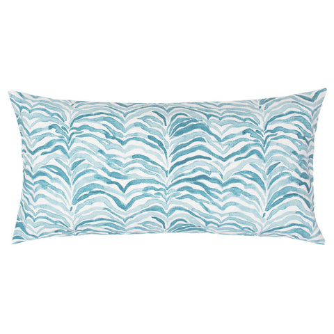 The Teal Waves Throw Pillow