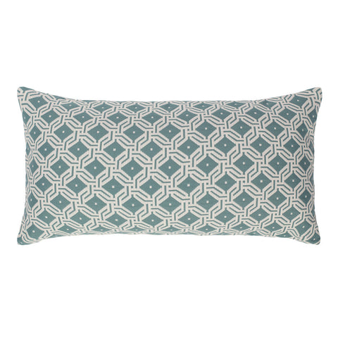 Bedroom inspiration and bedding decor | The Sea Mist Green and White Diamond Circlet Throw Pillow | Crane and Canopy