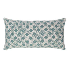 Sea Mist Green And White Diamond Circlet Pillow Crane