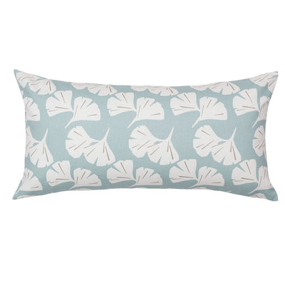 Seafoam Ginkgo Leaves Throw Pillow