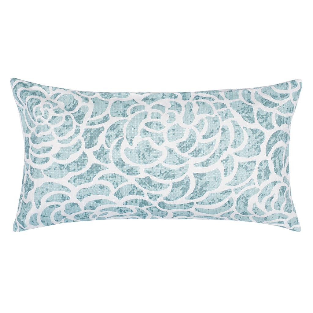 Bedroom inspiration and bedding decor | The Seafoam Peony Throw Pillows | Crane and Canopy