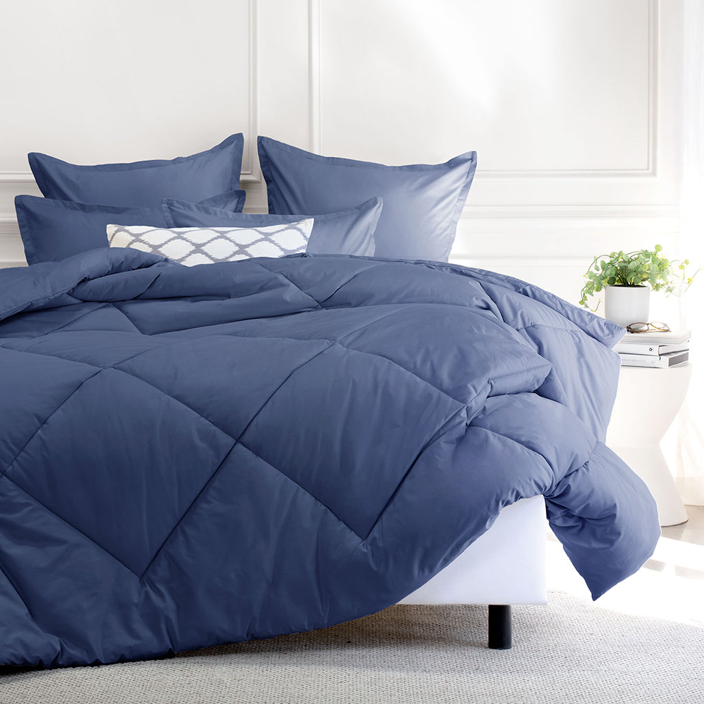Bedroom inspiration and bedding decor | The Slate Blue Comforter Duvet Cover | Crane and Canopy