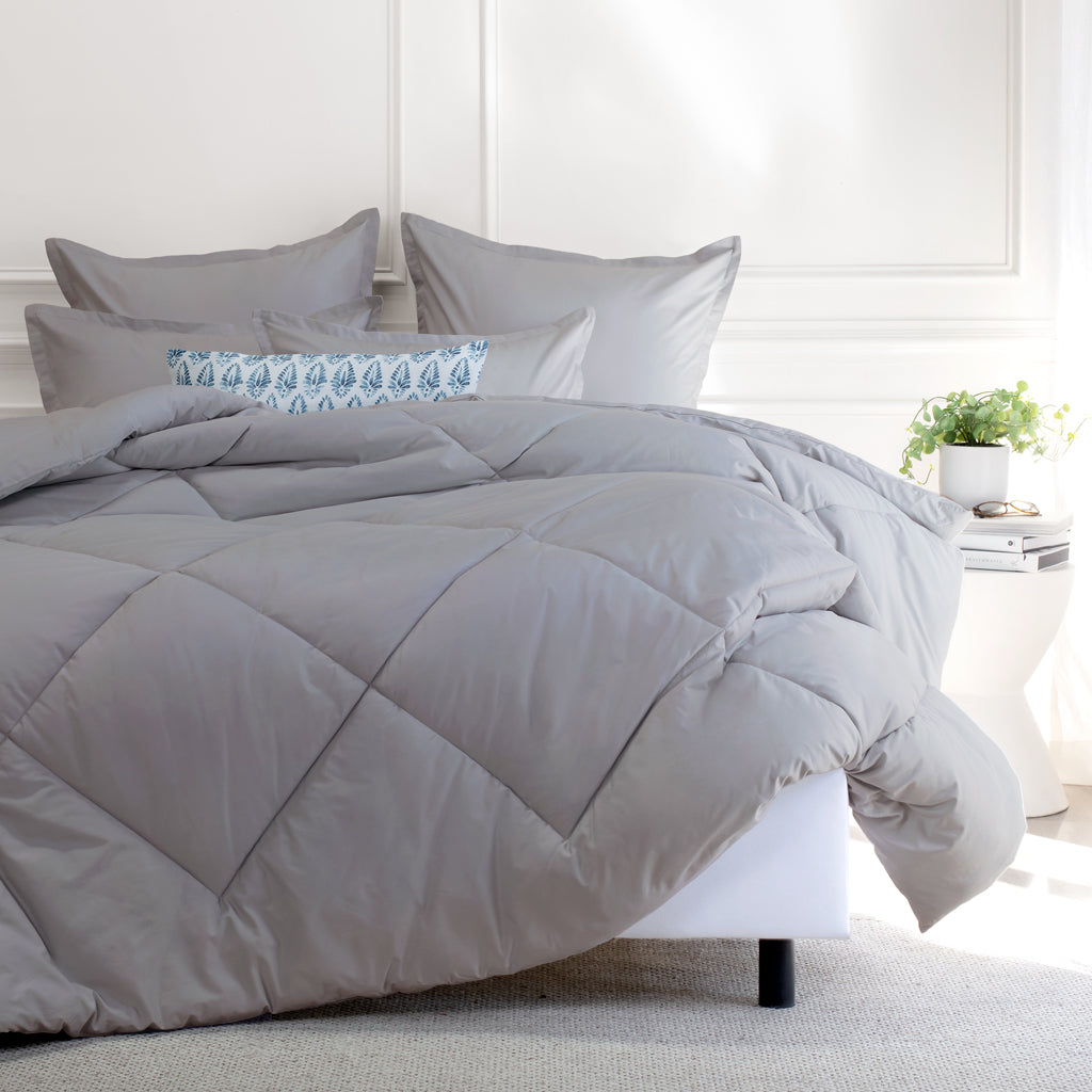 Bedroom inspiration and bedding decor | The English Grey Comforter Duvet Cover | Crane and Canopy