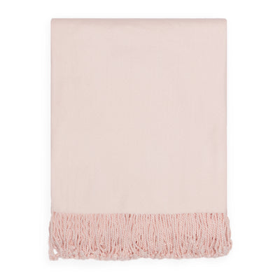 Bedroom inspiration and bedding decor | The Pale Pink Solid Fringed Throw Blanket Duvet Cover | Crane and Canopy