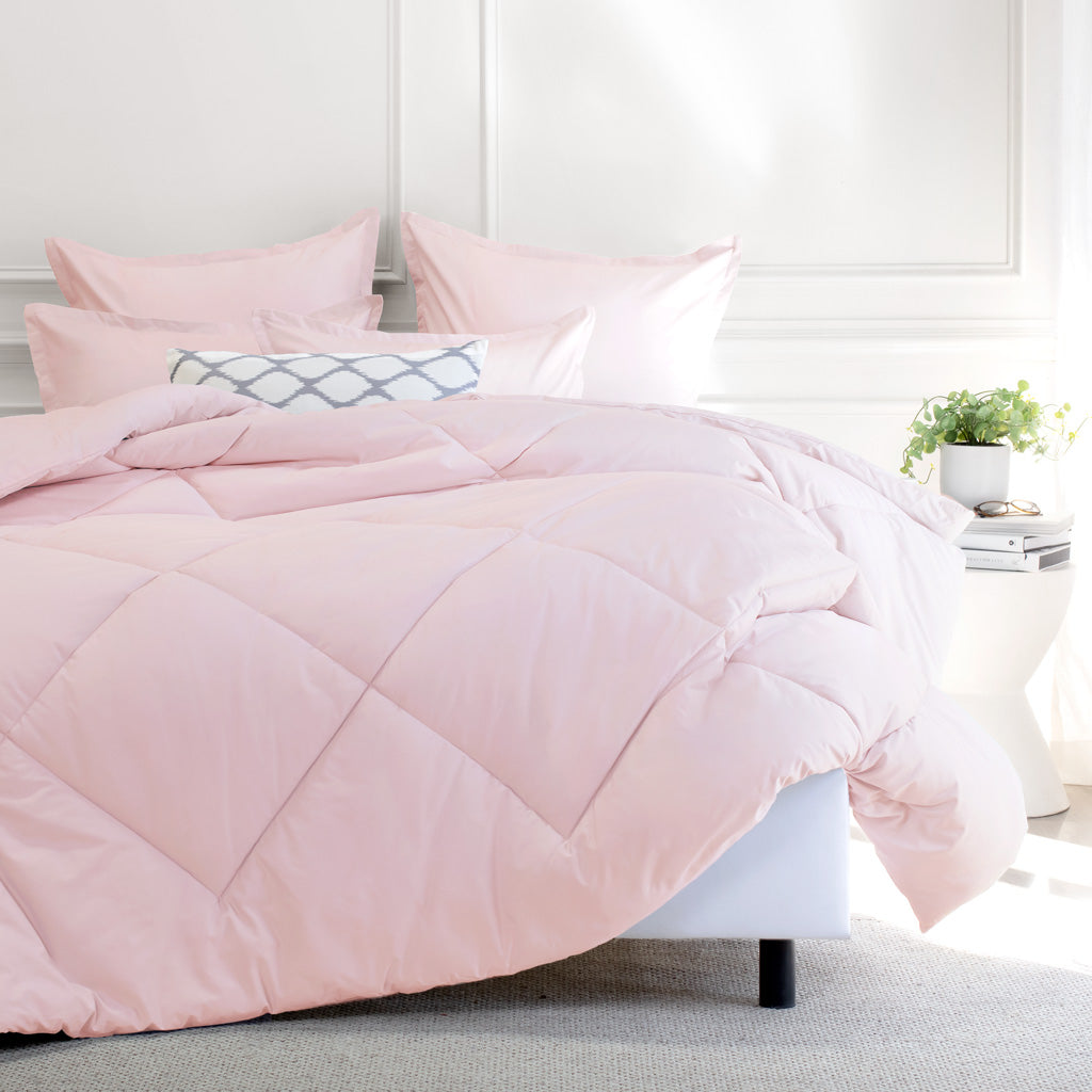 Bedroom inspiration and bedding decor | Pink Flange Euro Sham Duvet Cover | Crane and Canopy