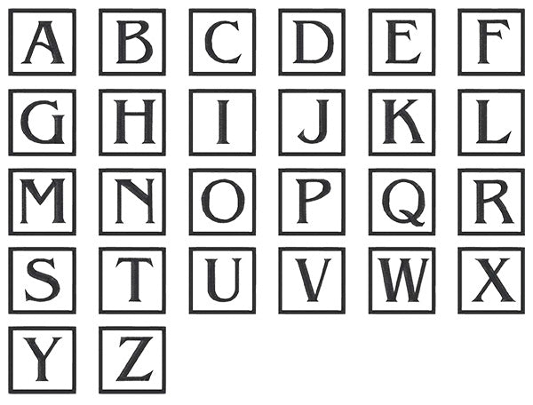 Image of all the letters in Square