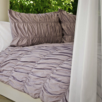 Bedroom inspiration and bedding decor | Purple Ruffled Sutter Duvet Duvet Cover | Crane and Canopy