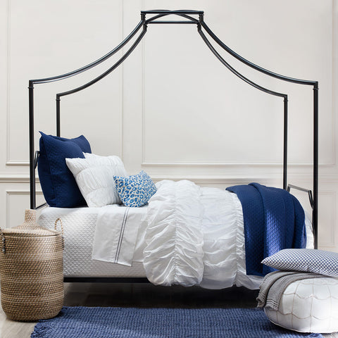 Bedroom inspiration and bedding decor | The Navy Blue Cloud Throw Pillows | Crane and Canopy