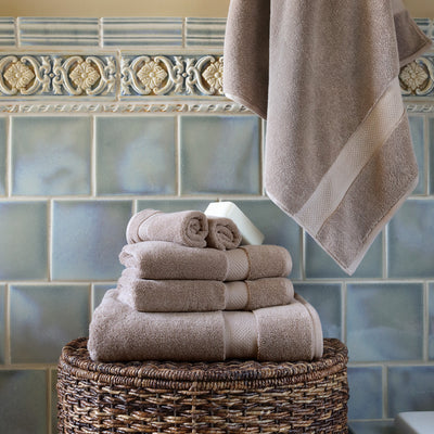 Classic Taupe Towel Spa Bundle (2 Wash + 2 Hand + 4 Bath Towels)