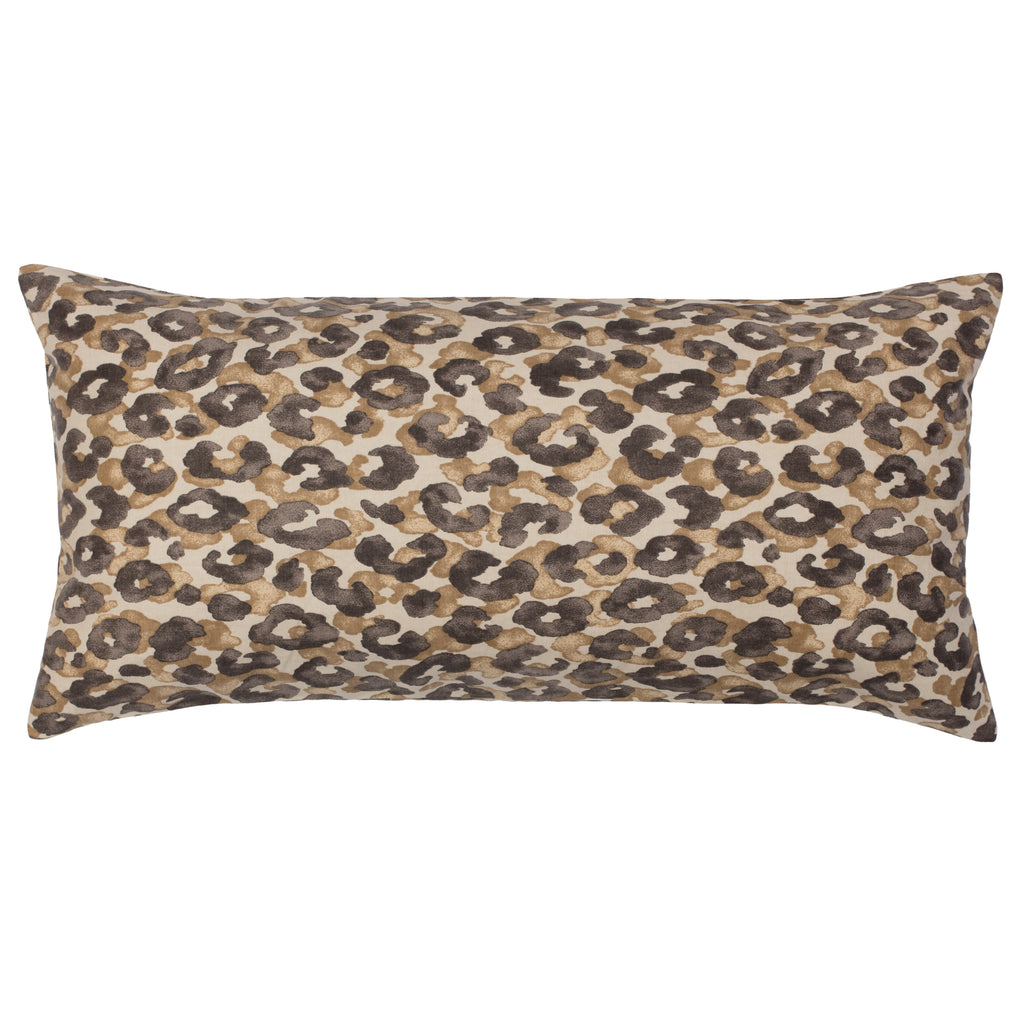 Bedroom inspiration and bedding decor | Chestnut Leopard Throw Pillow Duvet Cover | Crane and Canopy