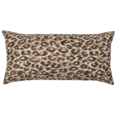 Chestnut Leopard Throw Pillow