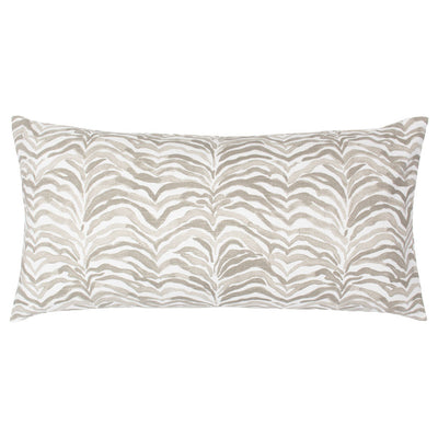 Taupe Waves Throw Pillow