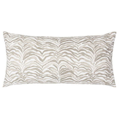The Taupe Waves Throw Pillow