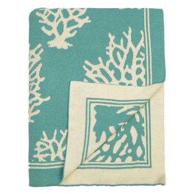 Teal Reef Reversible Patterned Throw