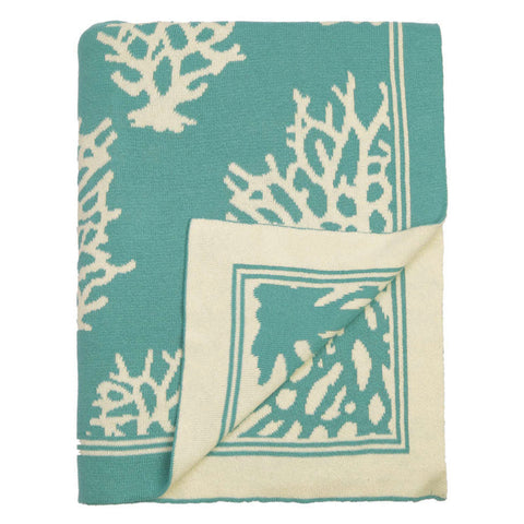 Bedroom inspiration and bedding decor | The Teal Reef Reversible Patterned Throw | Crane and Canopy