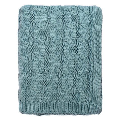 Bedroom inspiration and bedding decor | The Sea Glass Large Cable Knit Throw | Crane and Canopy