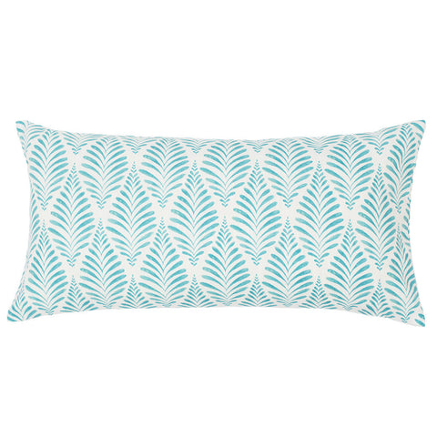 Bedroom inspiration and bedding decor | The Teal and White Palm Throw Pillow | Crane and Canopy