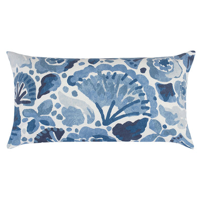The Blue Watercolor Seascape Throw Pillow