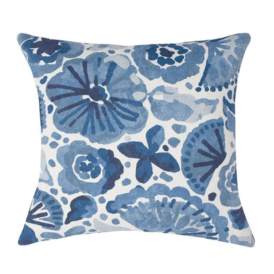 The Blue Watercolor Seascape Square Throw Pillow