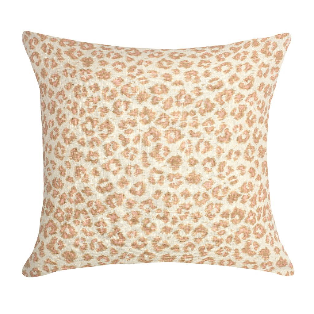 Bedroom inspiration and bedding decor | The Pink Leopard Print Square Throw Pillow Duvet Cover | Crane and Canopy