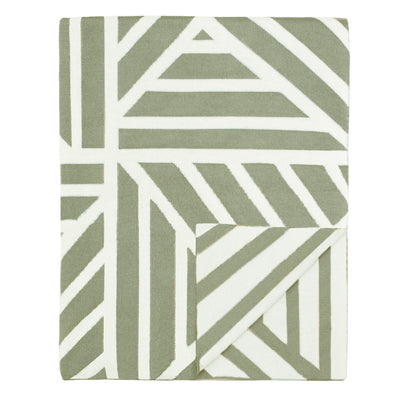 The Moss Green Maze Throw