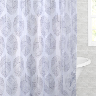 Bedroom inspiration and bedding decor | The Modern Leaf Shower Curtain Duvet Cover | Crane and Canopy