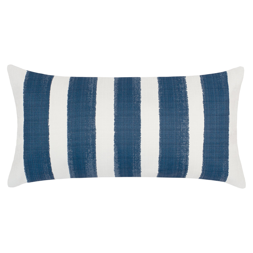 Bedroom inspiration and bedding decor | The Navy Beach Watercolor Stripes Throw Pillow Duvet Cover | Crane and Canopy