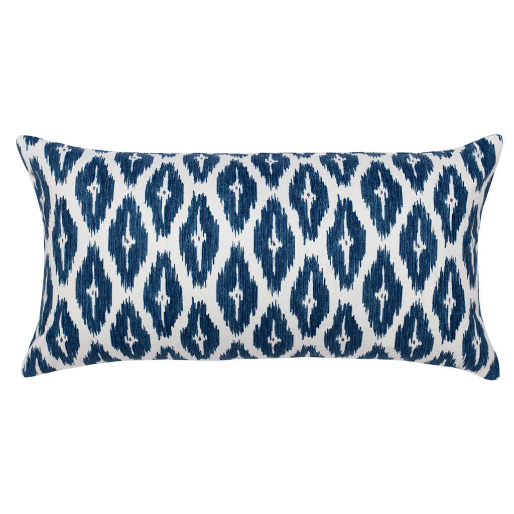 Bedroom inspiration and bedding decor | The Navy Ikat Diamond Ridge Throw Pillow Duvet Cover | Crane and Canopy