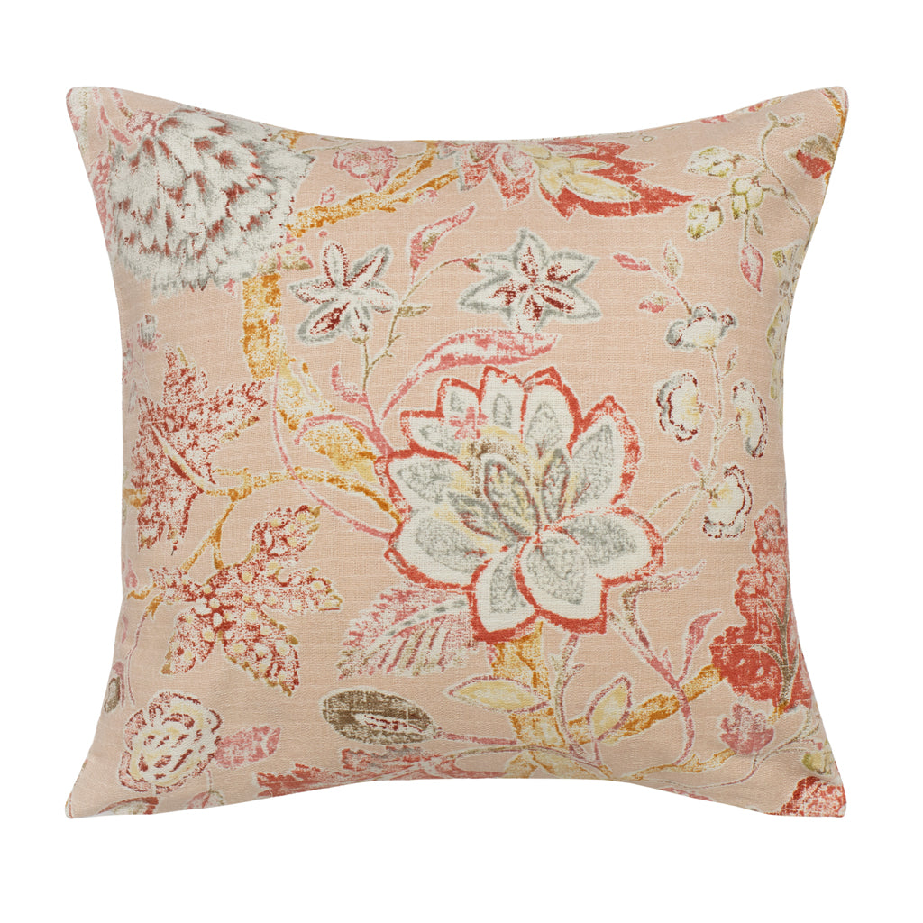 Bedroom inspiration and bedding decor | The Pink Summerdale Floral Square Throw Pillow Duvet Cover | Crane and Canopy