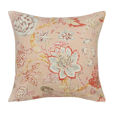 The Pink Summerdale Floral Square Throw Pillow