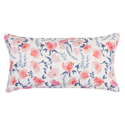 The Pink and Blue Botanical Throw Pillow
