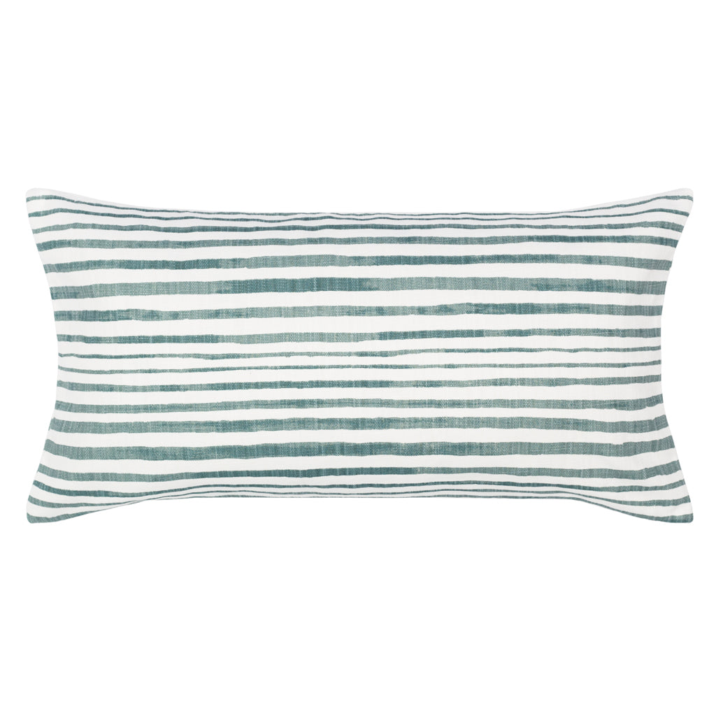 Bedroom inspiration and bedding decor | The Teal Coastal Stripes Throw Pillow Duvet Cover | Crane and Canopy