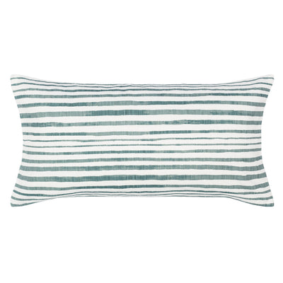 The Teal Coastal Stripes Throw Pillow