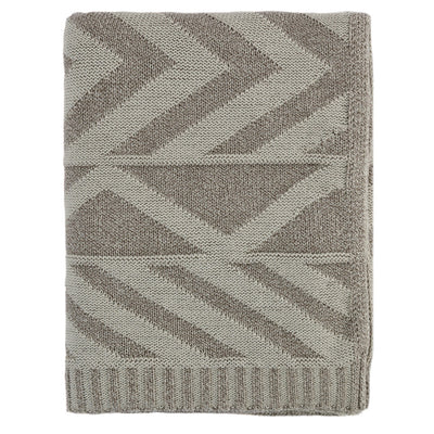 Beige Aztec Throw