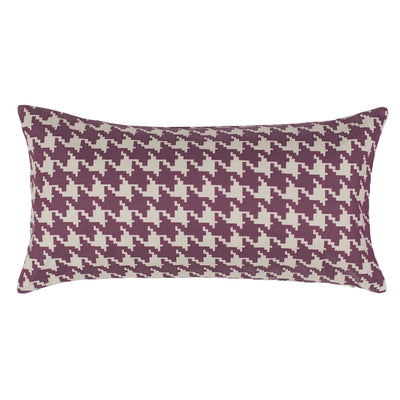 Berry Houndstooth Throw Pillow