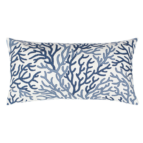 The Blue and Navy Reef Throw Pillow